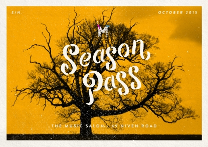 The Music Salon Season Pass (October)
