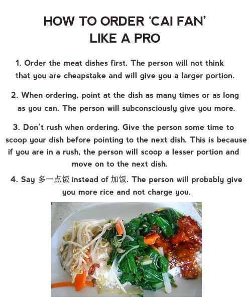 Order Cai Fan Like A Pro